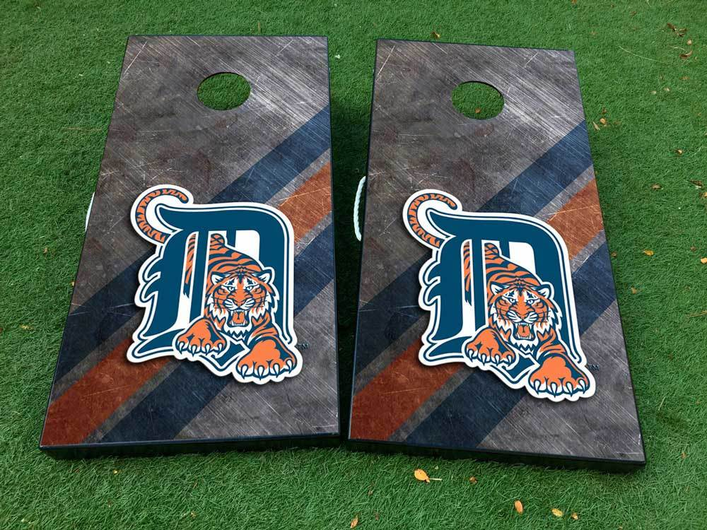 Detroit tigers baseball Cornhole Board Game Decal VINYL WRAPS with LAMINATED