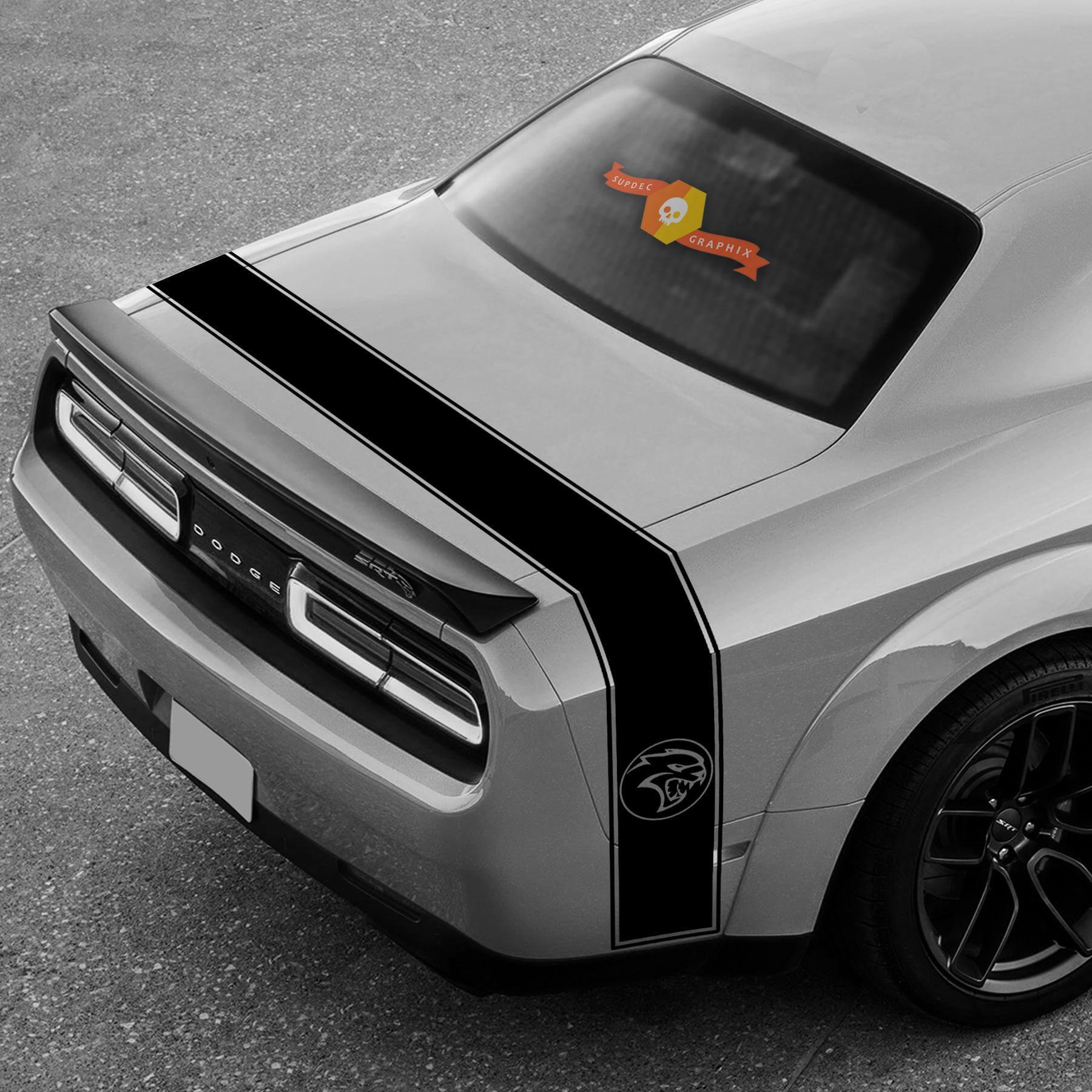 Dodge Challenger Ladegerät SRT Hellcat Streifen Hell Cat Vinyl Aufkleber Grafik