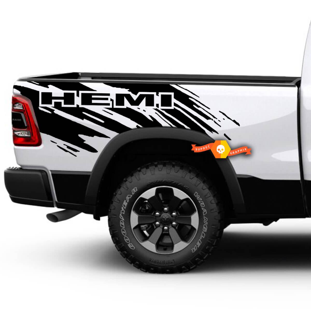 Dodge Ram HEMI Splash Grunge Logo LKW Vinyl Aufkleber Bett Grafik