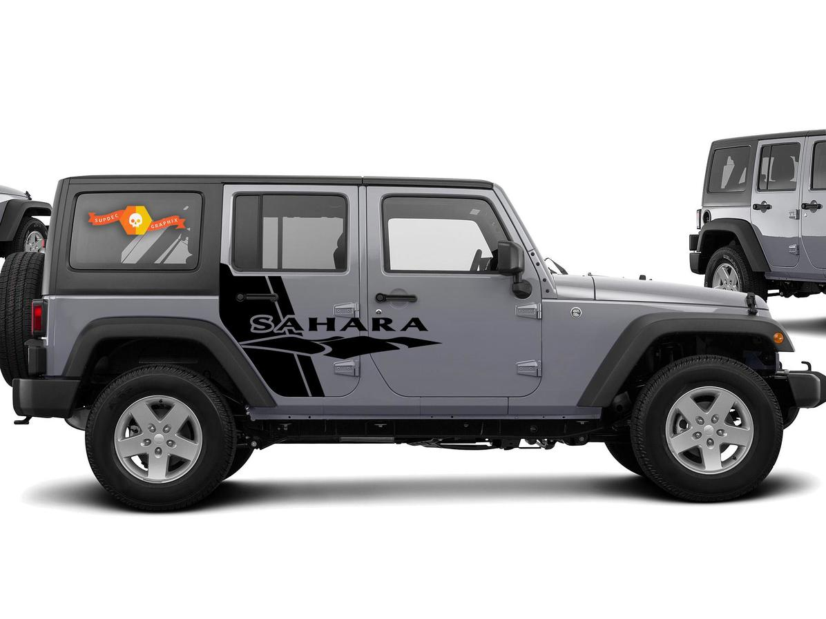 Product Side Swipe Jeep Sahara Graphics Vehicle Decals