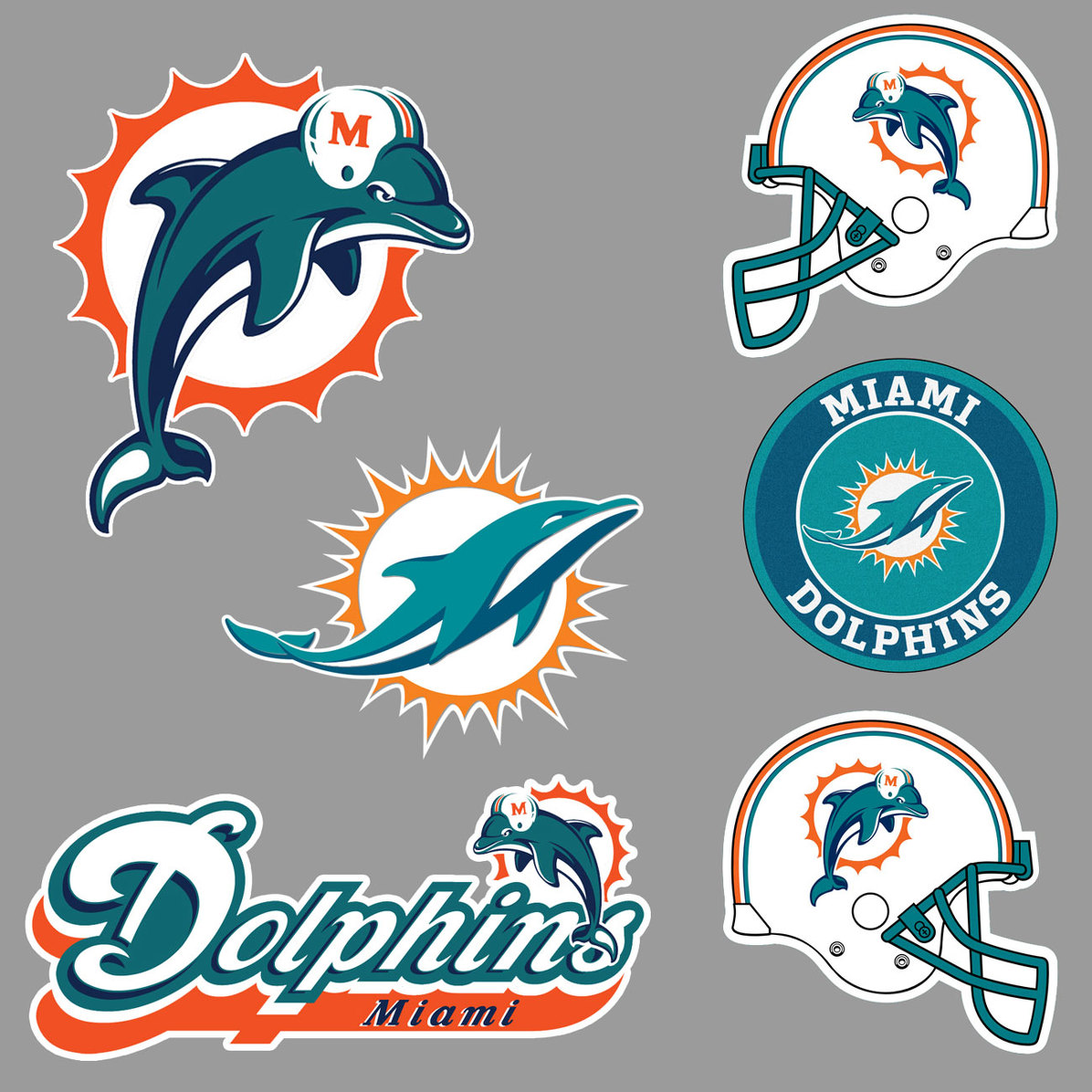 Miami dolphin wall stickers stickers design miami dolphins national football league nfl fan wall vehicle notebook etc decals stickers amipublicfo Image collections