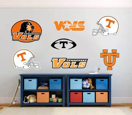 Tennessee Volunteers football team VOLS fan wall vehicle notebook etc decals stickers