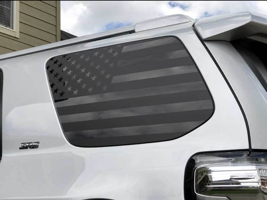 Toyota 4Runner American Flag Side Quarter Window Decal Fits 2010 - 2017 5th Gen