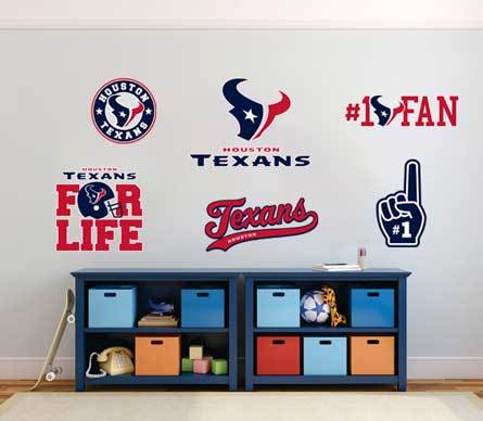The Houston Texans professional American football team National Football League (NFL) fan wall vehicle notebook etc decals stickers
