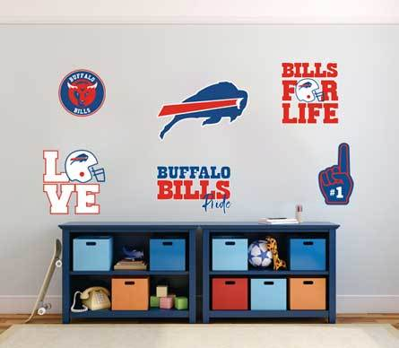 Buffalo Bills professional American football team National Football League (NFL) fan wall vehicle notebook etc decals stickers