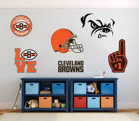Cleveland Browns American football team National Football League (NFL) fan wall vehicle notebook etc decals stickers
