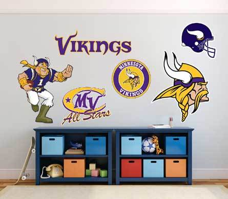 Minnesota Vikings American football team National Football League (NFL) fan wall vehicle notebook etc decals stickers