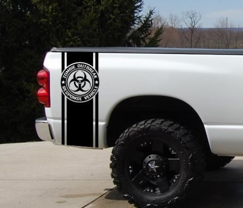 Zombie Outbreak Pickup Truck Bed Stripe Ford Dodge Toyota Chevy Nissan Pickup