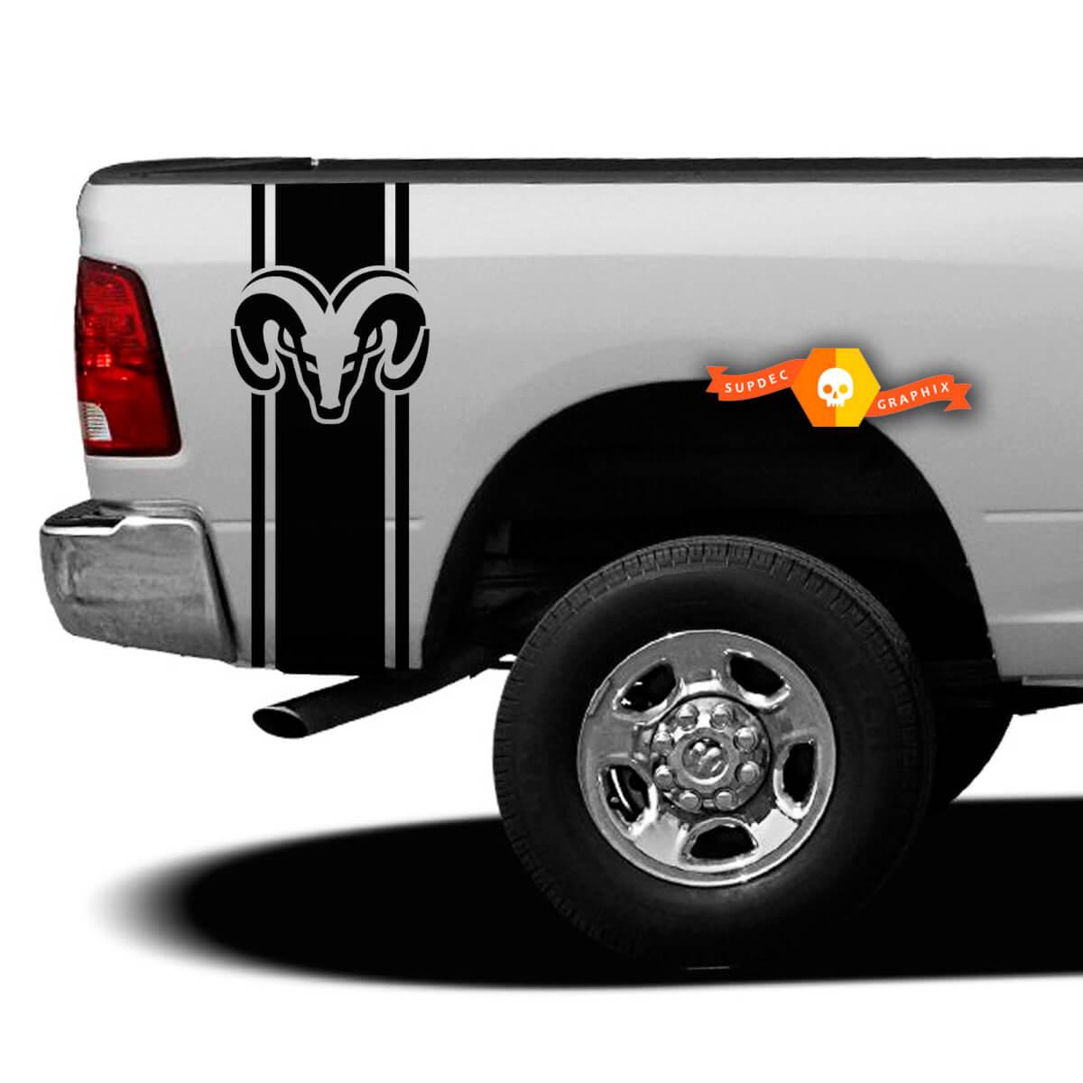 Custom Truck Bed Stripe Aufkleber Set von (2) für Dodge Pickup