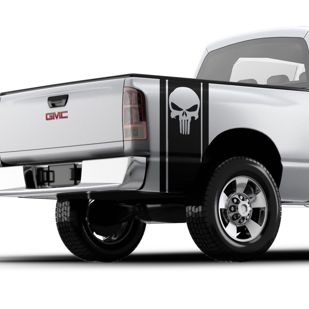 Punisher Skull Pickup Truck Bed Band Fits all GMC , FORD , RAM , Chevrolet truck