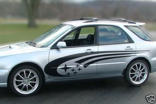 Subaru Impreza STi WRX Legacy Side Panel Stripes Vinyl Decals racing decal kit