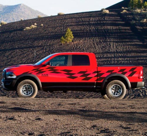 Racing Checkered Flag Graphic Stripe Decal Sticker Van Truck Vehicle SUV Rebel