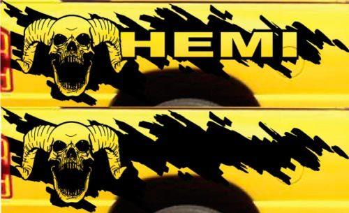 Product Hemi Dodge Ram Splash Grunge Skull Logo Vinyl