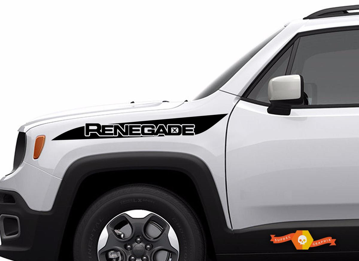 Product Jeep Renegade Hood Stripe Logo Graphic Vinyl