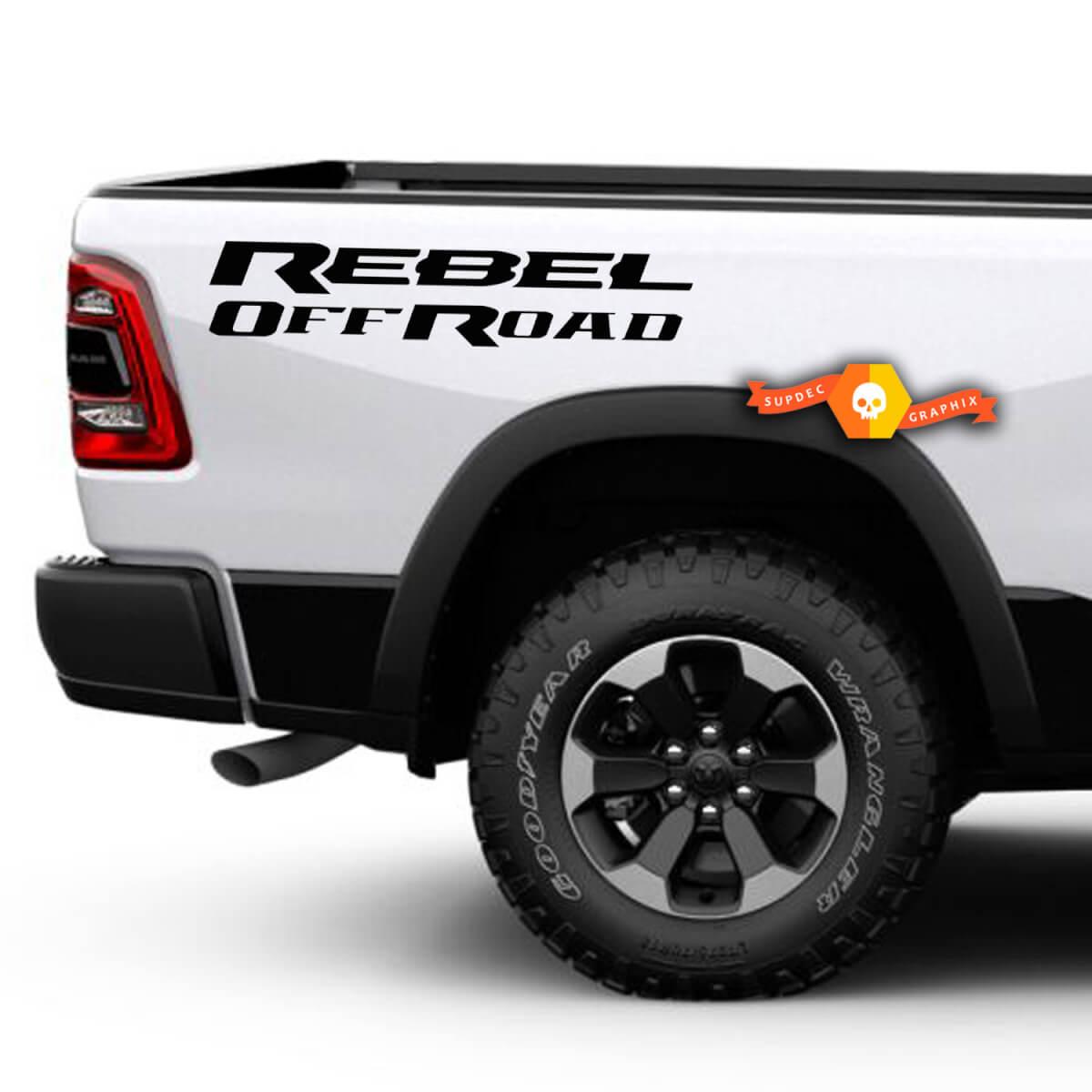 Dodge Ram Rebel Logo Seite Flare Truck Vinyl Aufkleber Grafik Off Road Bett Pickup