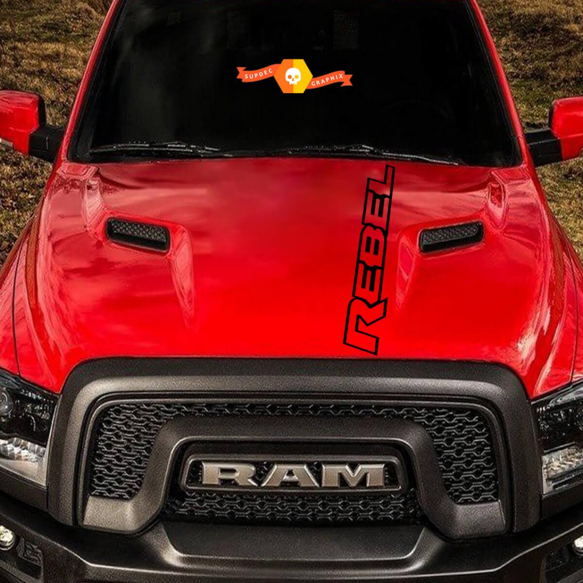 Dodge Ram Rebel Logo Seite Flare Truck Vinyl Aufkleber Grafik Camo Chrome