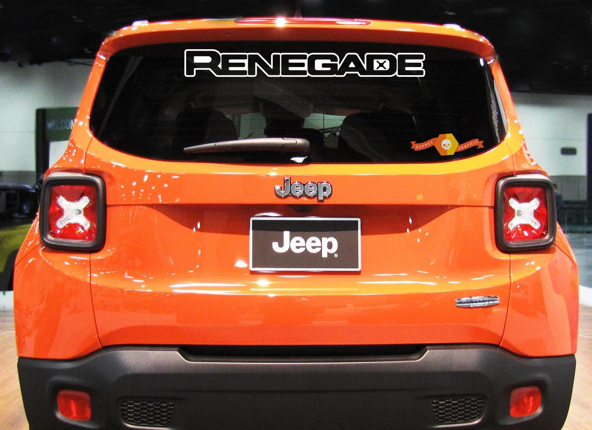 RENEGADE Rear WINDOW Decal Vinyl Windshield Fender Graphic JEEP RENEGADE