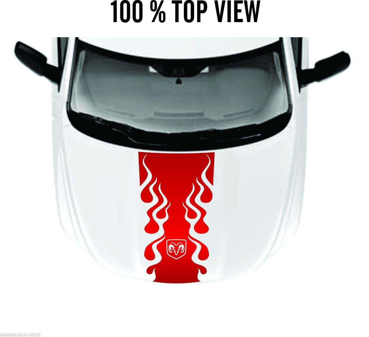 Hood Decal Vinyl Stripes for DODGE Ram Hemi 1500, 2500HD, 3500HD Rebel SRT New
