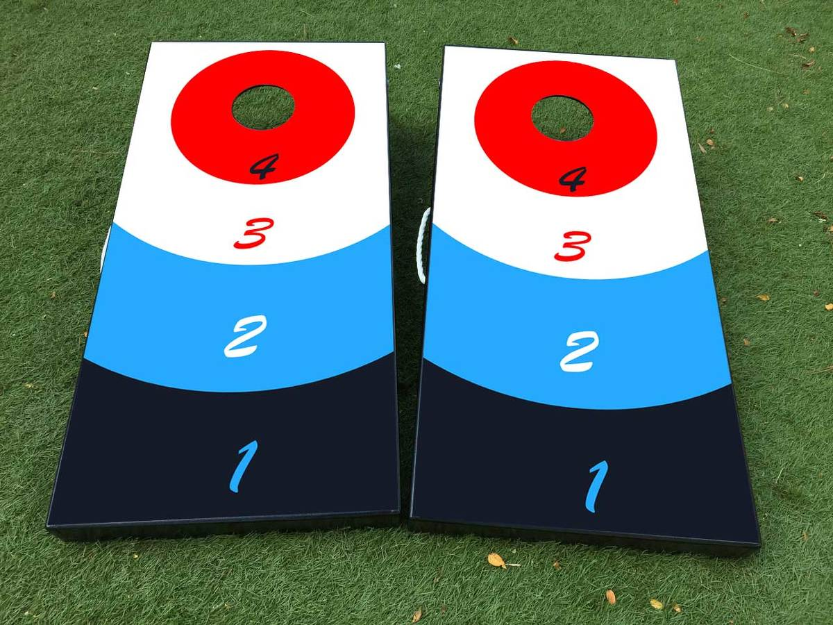 Beer Pong Cornhole Board Game Decal VINYL WRAPS with LAMINATED