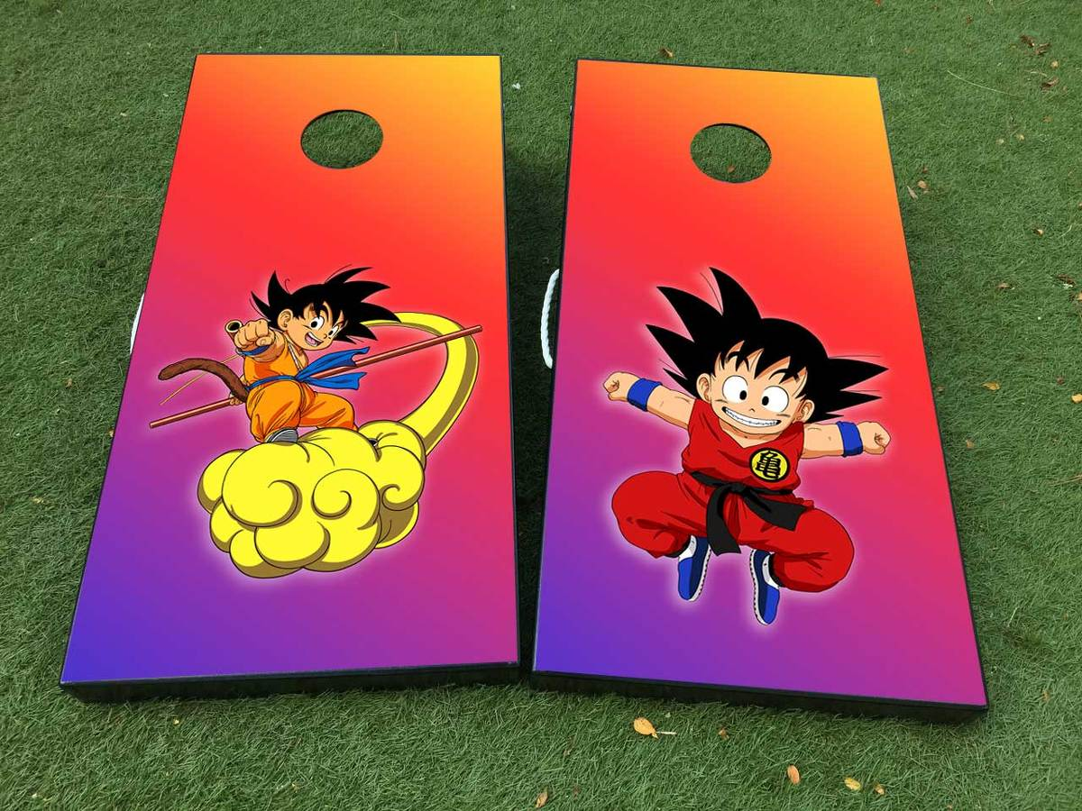 Dragon Ball Cornhole Board Game Decal VINYL WRAPS with LAMINATED