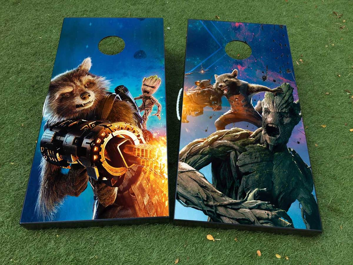 Guardians of the Galaxy Cornhole Board Game Decal VINYL WRAPS with LAMINATED