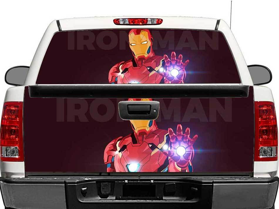 Ironman Rear Window OR tailgate Decal Sticker Pick-up Truck SUV Car