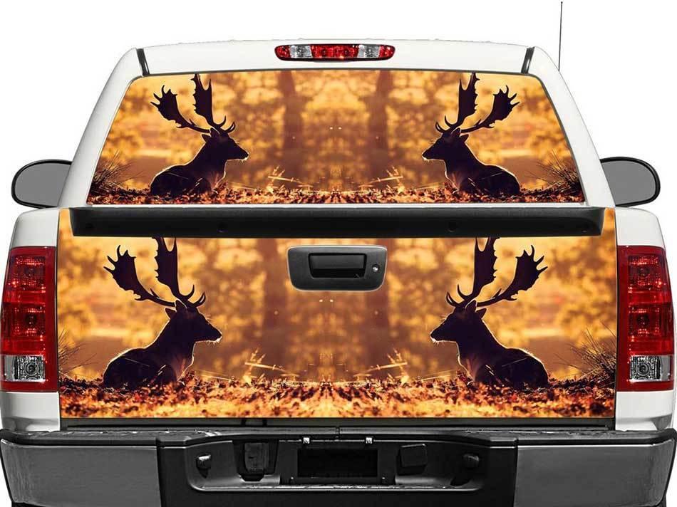 Moose in de herfst Achterruit of Tailgate Decal Sticker Pick-Up Truck SUV-auto