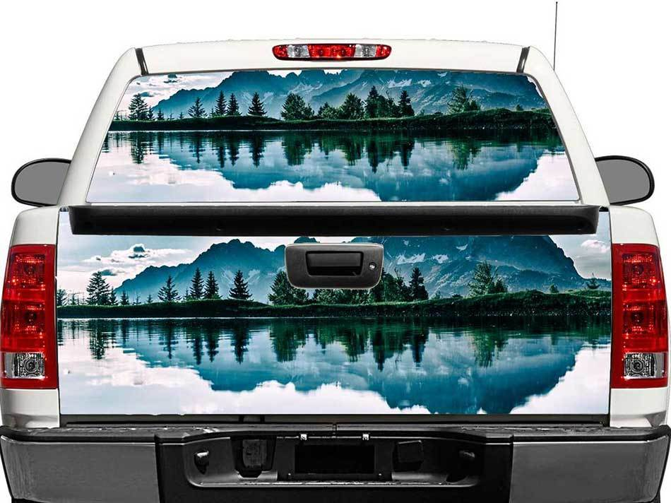 Truck Back Window Decals >> Mountains Lake Landscape Rear Window Or Tailgate Decal Sticker Pick Up Truck Suv Car