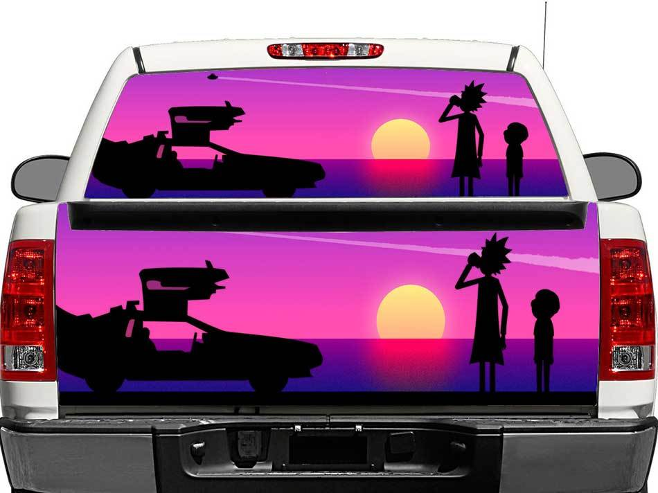 Rick and Morty 2 Rear Window OR tailgate Decal Sticker Pick-up Truck SUV Car