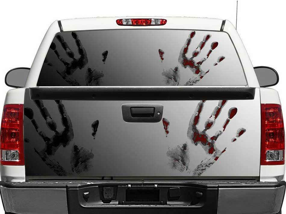 Zombie Hands Rear Window OR tailgate Decal Sticker Pick-up Truck SUV Car