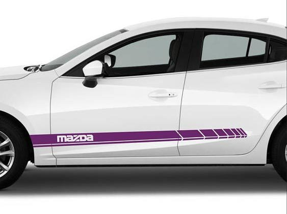 Product mazda 2 3 6 rx8 lower panel door stripes vinyl graphics and decals kits