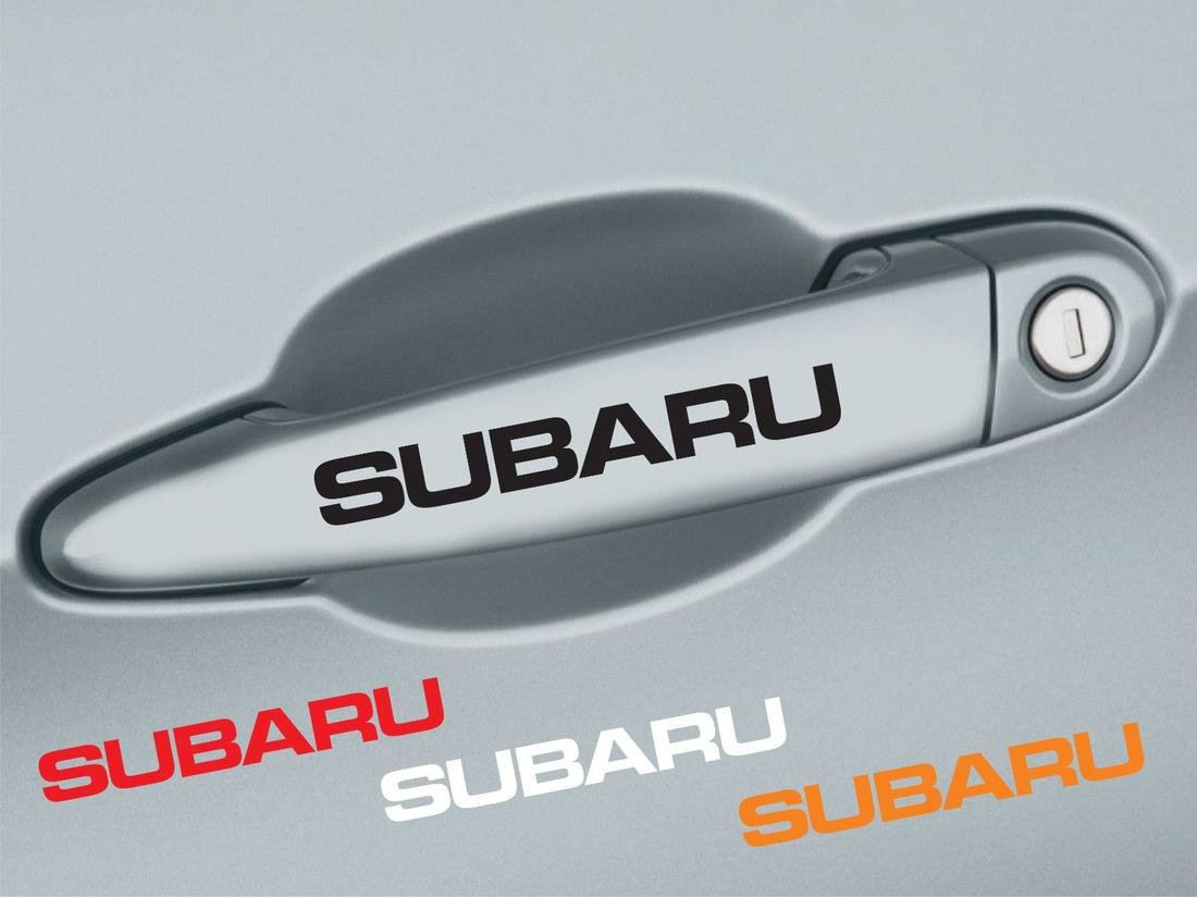 4 pcs SUBARU Handle Door Decal Sticker Emblem Logo Impreza Outback WRX STI