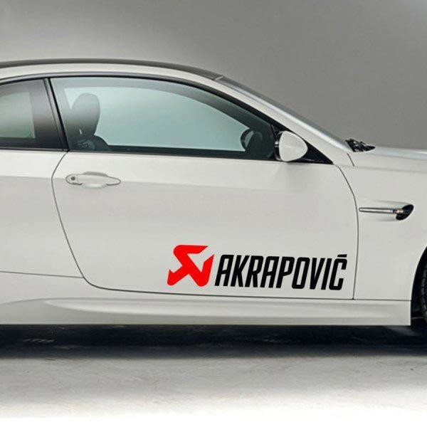 Product  Racing Sponsors Decal Sticker  Akrapovic