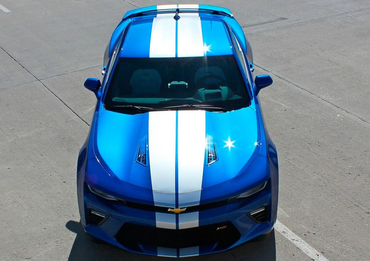 2016-2018 Chevy Camaro Racing Stripes TURBO RALLY Decal Vinyl Graphic Kit