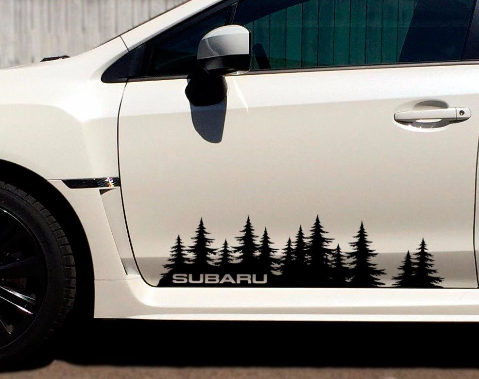 Product: Subaru custom tree forest Vinyl Decal Sticker Graphic WRX STI Forester