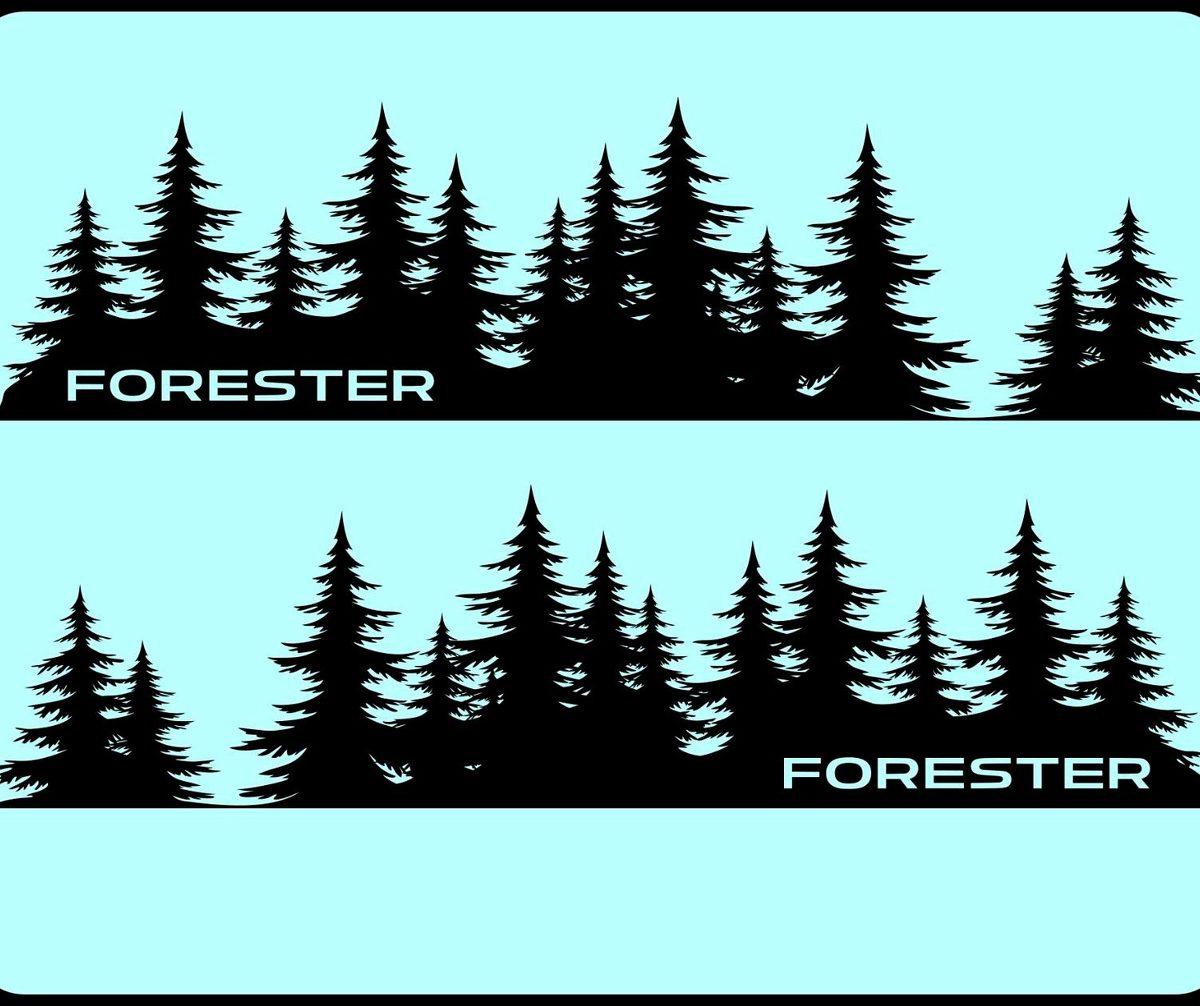 FORESTER Tree Decal Subaru sticker vinyl door Graphic Mountains Northwest PNW