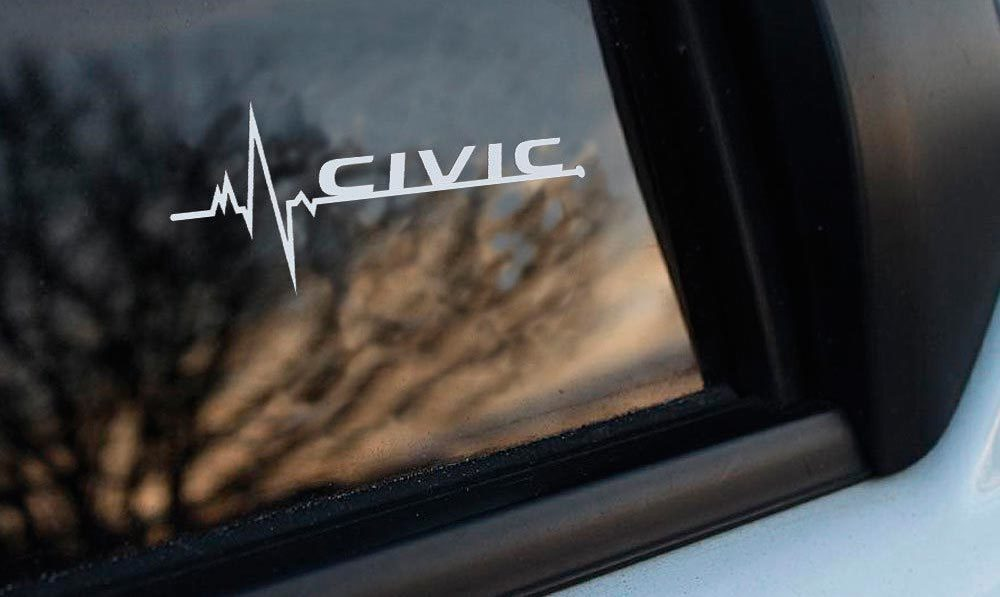 Product Honda Civic Is In My Blood Window Sticker Decals Graphic