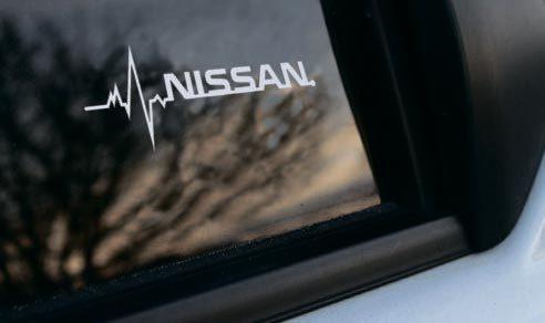 Nissan ist in meiner Blutfenster-Aufkleberabziehbildgrafik