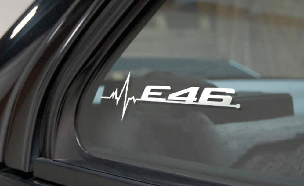 BMW E46 is in my Blood window sticker decals graphic