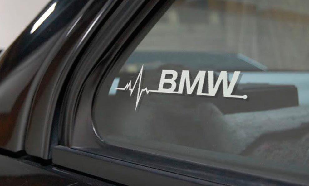 BMW ist in meiner Blood Fenster Aufkleber Aufkleber Grafik