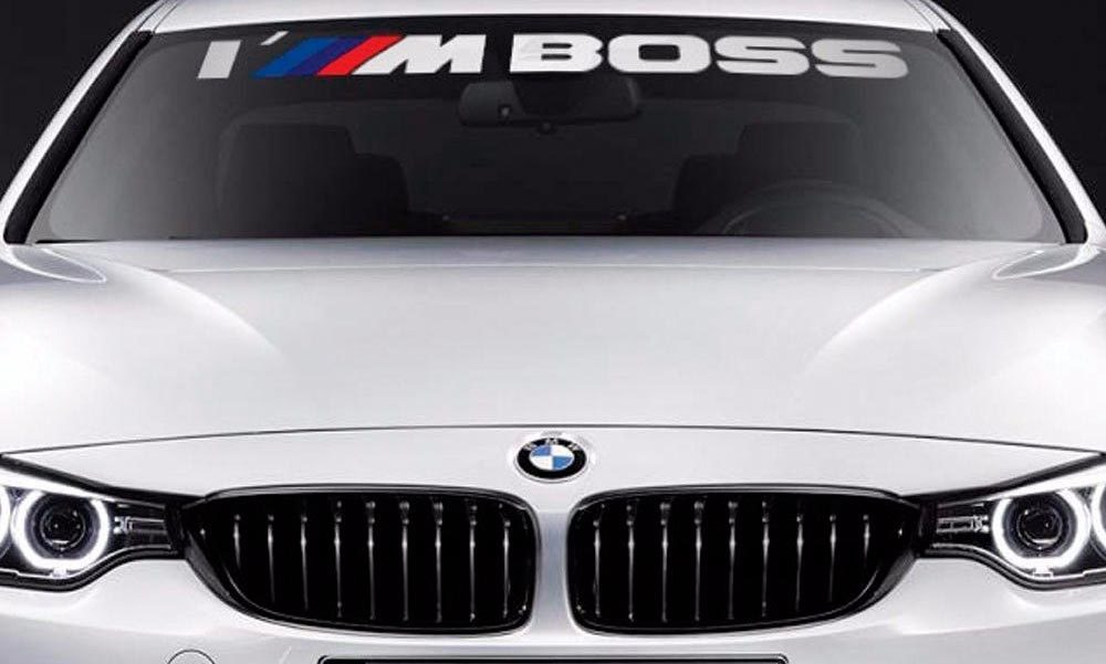 BMW Windschutzscheibe Ich bin Boss M Performance Windows Aufkleber Aufkleber Grafik