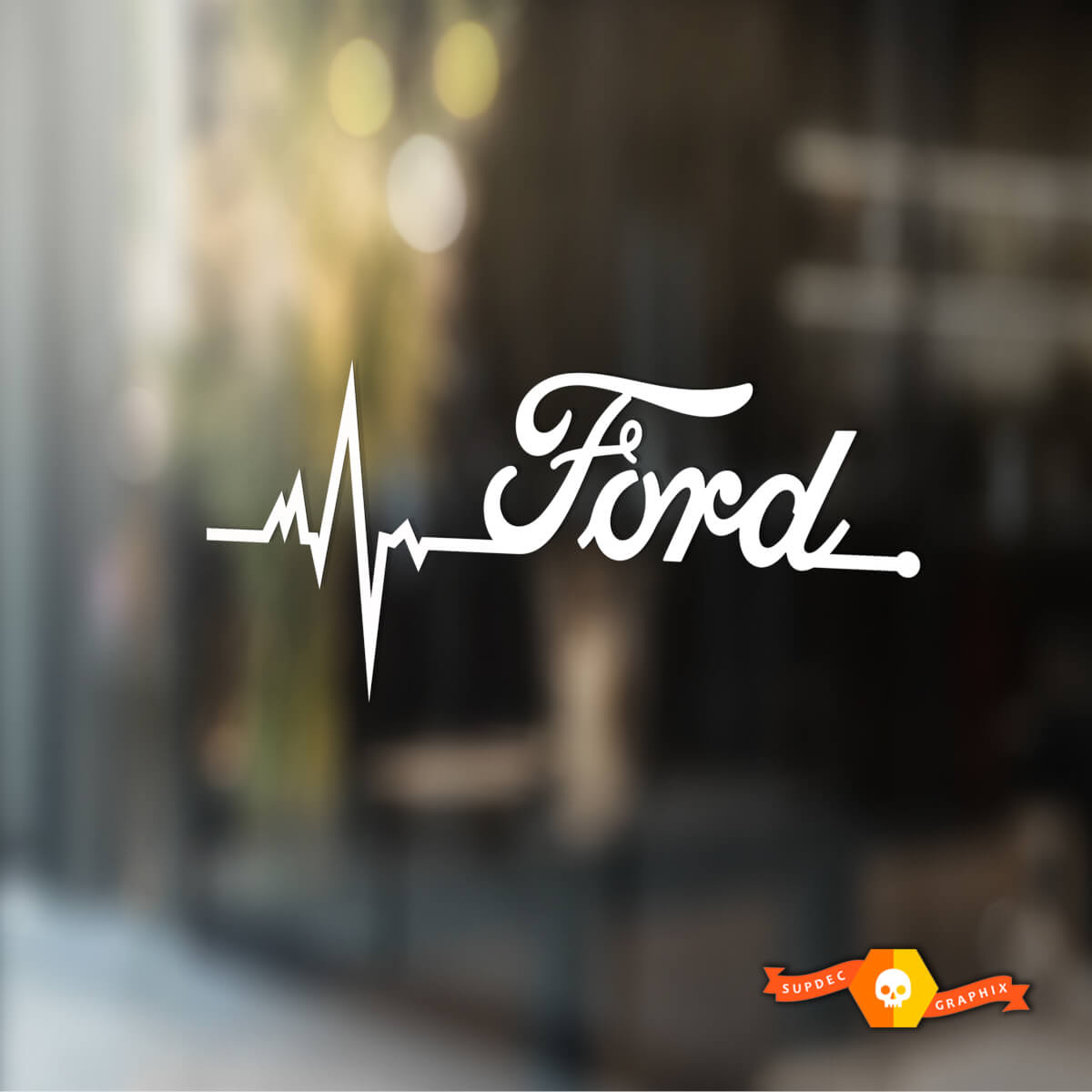 Ford is in my Blood window sticker decals graphic