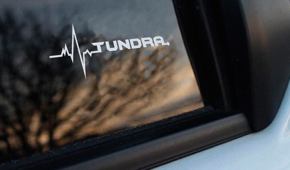 Toyota Tundra ist in meiner Blutfenster-Aufkleberabziehbildgrafik