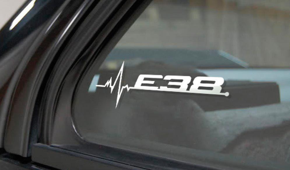 BMW E38 ist in meiner Blood Fenster Aufkleber Aufkleber Grafik