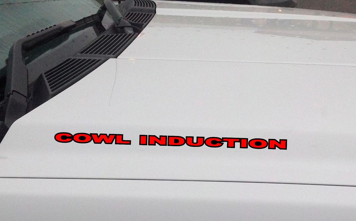 Product: COWL INDUCTION Hood Vinyl Decal Sticker: Chevrolet