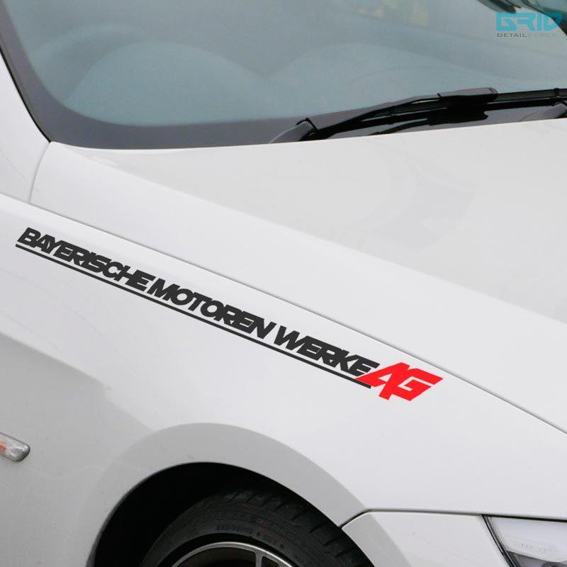 LETTERING DECAL STICKER EMBLEM LOGO VINYL B TYP FÜR BMW