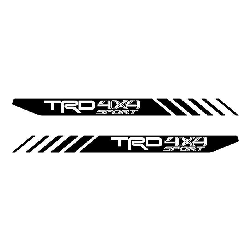 Product tundra sport toyota trd truck 4x4 decals vinyl precut stickers bedside set 2p