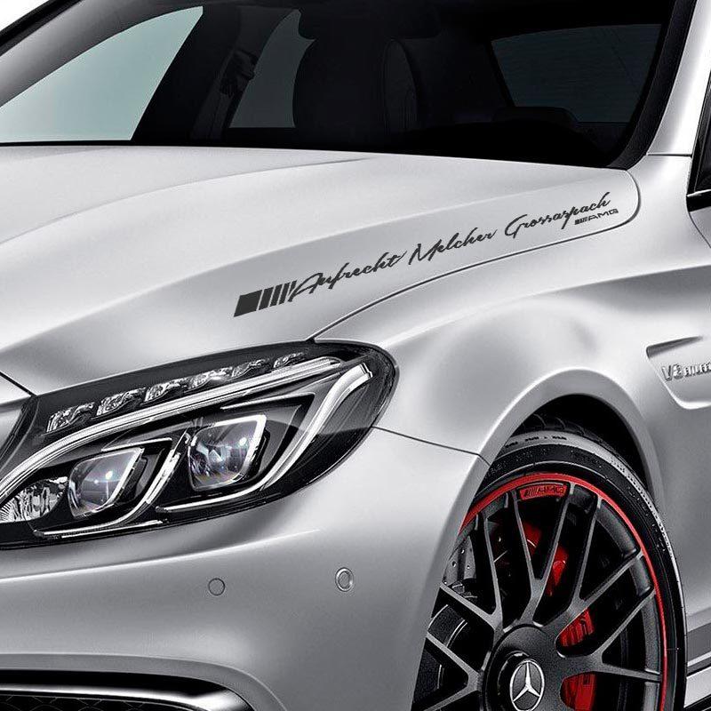 Mercedes Benz windshield Vinyl Decal Sport Racing sticker emblem logo WHITE