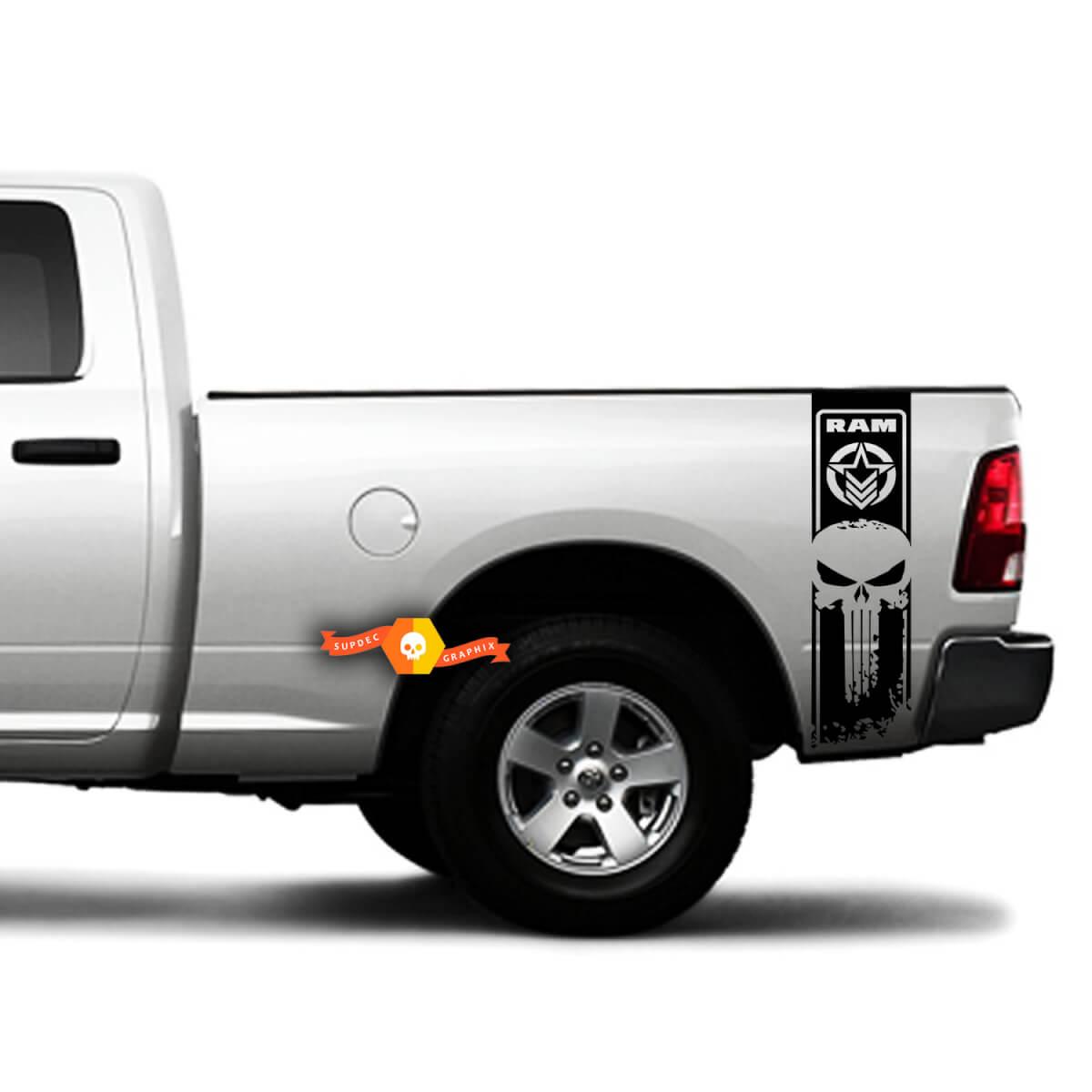Dodge Ram Punisher Star 1500 2500 3500 Hemi 4x4 Aufkleber Truck Vinyl Stickes