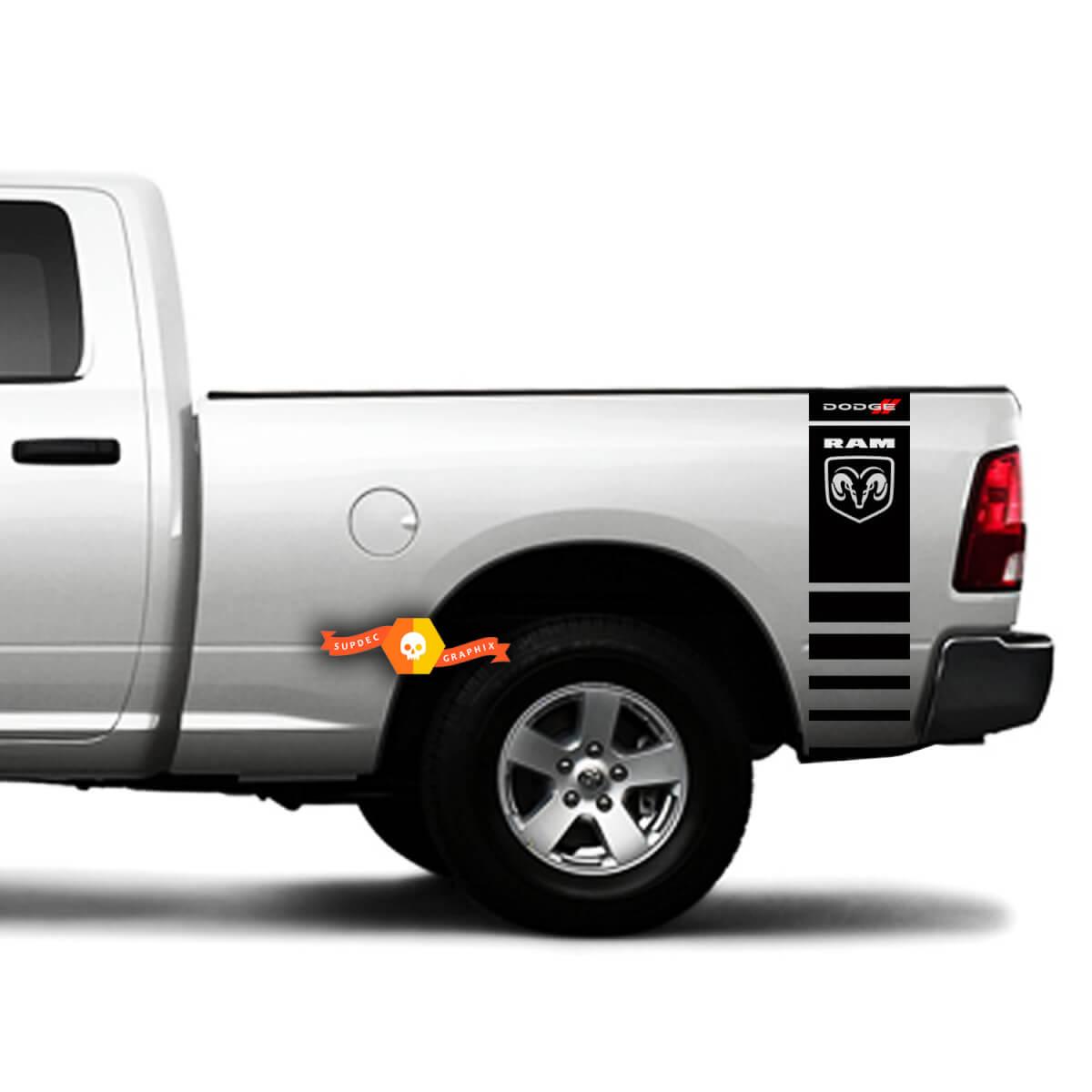 Dodge Ram 1500 2500 3500 Rennstreifen Hemi RAM 4x4 Aufkleber LKW Aufkleber Vinyl k3